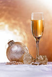 Christmas wine glass Stock Photography