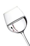 Christmas wine glasses Stock Photos