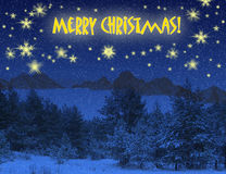 Christmas winter background Stock Photography