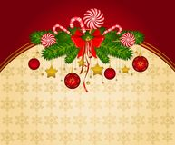 Christmas winter background. Royalty Free Stock Photography