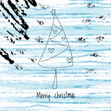 Christmas winter background and abstract xmas tree Royalty Free Stock Images