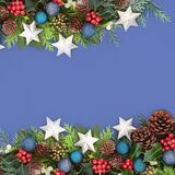 Christmas and Winter Background Border Composition