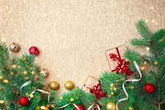 Christmas winter background. Happy New Year, Merry Christmas. Christmas winter background. Happy New Year. Merry Christmas. Background with copy space Stock Photo