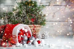 Christmas winter background. New Year`s toys. Happy New Year and Merry Christmas. Christmas winter background, New Year`s toys. Happy New Year and Merry Royalty Free Stock Photos