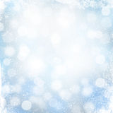 Christmas winter background with snow Stock Photos
