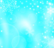 Christmas winter background with snowflakes Stock Images