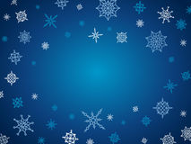 Christmas and winter background with snowflakes Royalty Free Stock Image
