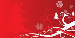 Christmas winter background, vector Stock Images