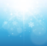 Christmas, winter background. Vector illustration Stock Photo