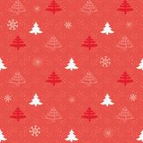Christmas winter background. Vector illustration. Seamless natural ornament on the Christmas theme Stock Image