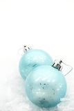 Christmas winter baubles. Christmas baubles with copy space Stock Images