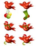 Christmas Winter Birds Flying Stock Photos