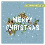 Christmas Winter Birds Graphic Design Royalty Free Stock Images