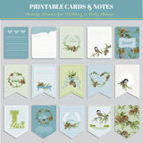 Christmas Winter Birds Theme Cards Stock Photo