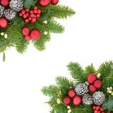 Christmas and Winter Border Royalty Free Stock Photography