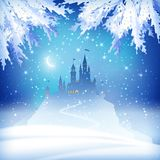 Christmas Winter Castle Royalty Free Stock Images
