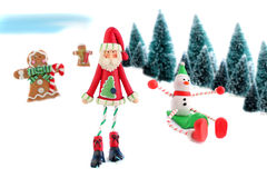 Christmas and winter characters Stock Photography
