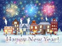 Christmas winter city street Stock Photo
