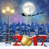 Christmas Winter Cityscape Stock Image