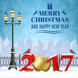 Christmas Winter Cityscape Royalty Free Stock Photography