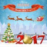 Christmas Winter Cityscape Royalty Free Stock Photos