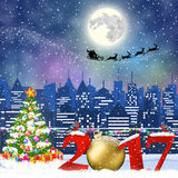 Christmas Winter Cityscape Royalty Free Stock Image