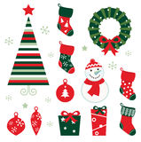 Christmas & winter design elements Stock Image