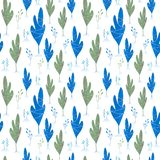Christmas winter forest landscape. seamless pattern and background. stock illustration