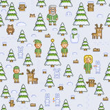 Christmas winter forest Stock Photos