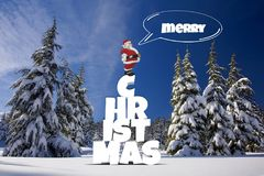 Christmas, Winter, Forest, Snow Stock Photo