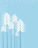 Christmas winter forest.Vector symbol card for tex Stock Photos