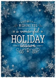 Christmas Winter Frame - Illustration. Christmas Dark Blue - Text Background Portrait. Royalty Free Stock Photo
