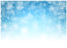 Christmas Winter Frame - Illustration. Christmas White Blue - Empty Background Landscape. Stock Image