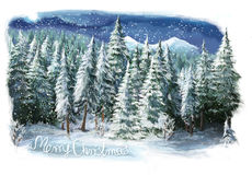 Christmas winter happy scene Royalty Free Stock Photography