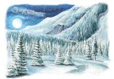 Christmas winter happy scene Stock Photos