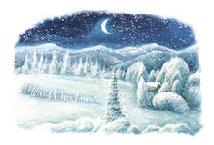Christmas winter happy scene Royalty Free Stock Images