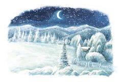 Christmas winter happy scene Stock Images