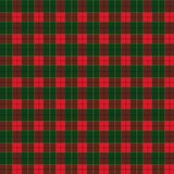 Christmas Winter Holiday Card Decoration Plaid Scotland Ornamental background, checkered stripes red, green pattern vector illustration