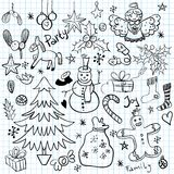 Christmas and Winter Holiday Doodles Royalty Free Stock Photography
