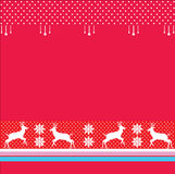 Christmas winter Holiday reindeer border. Christmas border, winter, Holiday Background, Vector. Abstract Christmas red Background. Festive Decorative red pattern Stock Photo