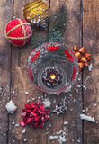 Christmas winter holidays. Christmas decoration and toy during winter holidays Royalty Free Stock Image