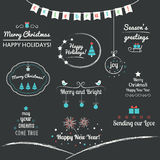 Christmas and Winter Holidays Design Elements. Christmas Wishes and Winter Holidays Design Elements Stock Photo
