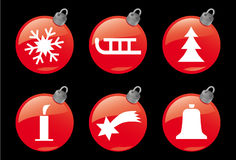 Christmas and Winter Icons #1 Stock Images