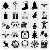 Christmas and Winter icons Royalty Free Stock Photography