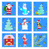 Christmas, winter icons Royalty Free Stock Images