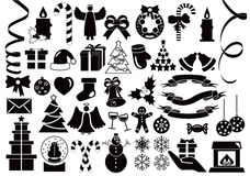 Christmas and Winter icons collection Stock Image