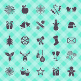 Christmas and winter icons Stock Photo