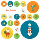 Christmas and Winter Icons Collection Royalty Free Stock Photos