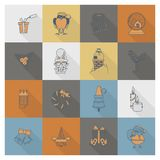 Christmas and Winter Icons Collection Stock Photos