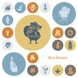 Christmas and Winter Icons Collection Stock Images